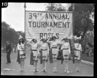 Banner announcing the 39th Annual Tournament of Roses Parade, Pasadena, 1928