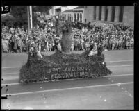Portland Rose Festival float in the Tournament of Roses Parade, Pasadena, 1928