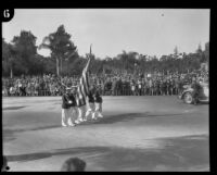 Color guard in the Tournament of Roses Parade, Pasadena, 1929