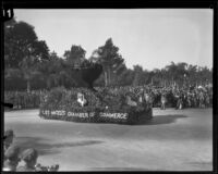 """Chalice"" float in the Tournament of Roses Parade, Pasadena, 1929"