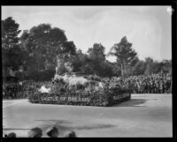 """My Castle of Dreams"" float in the Tournament of Roses Parade, Pasadena, 1929"