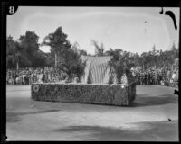 """W. K. Kellogg Arabian Horse Ranch"" float in the Tournament of Roses Parade, Pasadena, 1929"