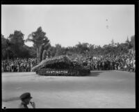 Huntington Hotel float in the Tournament of Roses Parade, Pasadena, 1929