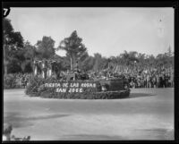 """Fiesta de las Rosas"" float in the Tournament of Roses Parade, Pasadena, 1929"