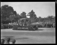 Hotel Maryland float in the Tournament of Roses Parade, Pasadena, 1929