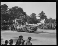 Service Clubs float in the Tournament of Roses Parade, Pasadena, 1929
