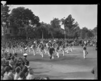 Marching band in the Tournament of Roses Parade, Pasadena, 1930