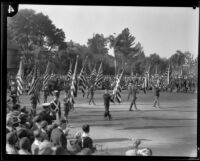Color guard in the Tournament of Roses Parade, Pasadena, 1930