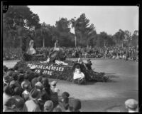 """Fiesta de las Rosas"" float in the Tournament of Roses Parade, Pasadena, 1930"