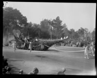"""Mother's Day"" float in the Tournament of Roses Parade, Pasadena, 1930"
