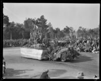 """Cathedral Gorge"" float in the Tournament of Roses Parade, Pasadena, 1930"