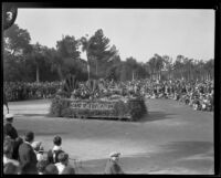 Board of Education automobile in the Tournament of Roses Parade, Pasadena, 1930