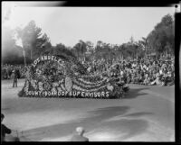 Los Angeles Board of supervisors float in the Tournament of Roses Parade, Pasadena, 1930