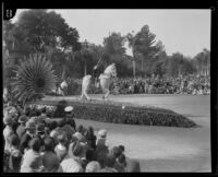 """Portola Festival"" float in the Tournament of Roses Parade, Pasadena, 1930"