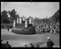 Cake float in the Tournament of Roses Parade, Pasadena, 1930