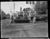 """Midsummer Day"" float in the Tournament of Roses Parade, Pasadena, 1930"