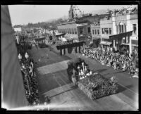 """May Day"" float in the Tournament of Roses Parade, Pasadena, 1930"
