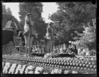 """Orange is King"" float in the Tournament of Roses Parade, Pasadena, 1930"