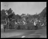 """May Basket"" float  in the Tournament of Roses Parade, Pasadena, 1930"
