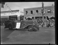 Rose Parade Grand Marshal James Rolph in the Tournament of Roses Parade, Pasadena, 1930