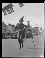 Outwalker costumed as a witch (?) at the Tournament of Roses Parade, Pasadena, 1930