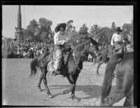 Horseback riders at the Tournament of Roses Parade, Pasadena, 1930