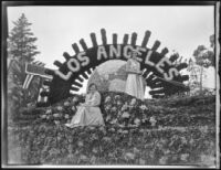 """A Dream of Commercial Progress"" float in the Tournament of Roses Parade, Pasadena, 1931"