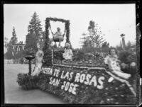 """Fiesta de las Rosas"" float in the Tournament of Roses Parade, Pasadena, 1931"