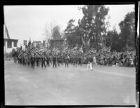 Color guard in the Tournament of Roses Parade, Pasadena, 1931