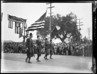 Shriners marching in the Tournament of Roses Parade, Pasadena, 1931