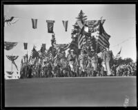 Color guard at the Tournament of Roses Parade, Pasadena, 1932