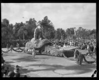 """Aphrodite"" float in the Tournament of Roses Parade, Pasadena, 1932"