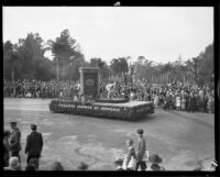 Pasadena Chamber of Commerce float in the Tournament of Roses Parade, Pasadena, 1932