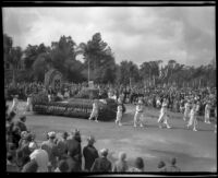 """Modern Woodmen of America""  float in the Tournament of Roses Parade, Pasadena, 1932"