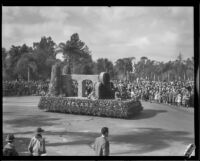 """Ireland"" float in the Tournament of Roses Parade, Pasadena, 1932"