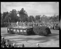 """Boxing Ring"" float in the Tournament of Roses Parade, Pasadena, 1932"