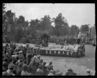 """Germany"" float in the Tournament of Roses Parade, Pasadena, 1932"