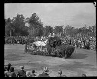 """Camp Baldy"" float in the Tournament of Roses Parade, Pasadena, 1932"