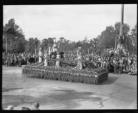 Olympic games theme float in the Tournament of Roses Parade, Pasadena, 1932
