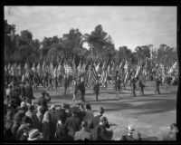 Color guard in the Tournament of Roses Parade, Pasadena, 1932