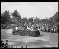 """Sailing"" float in the Tournament of Roses Parade, Pasadena, 1932"