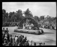 """Sunset in Haiti"" float in the Tournament of Roses Parade, Pasadena, 1932"