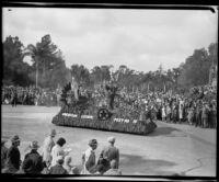 American Legion float in the Tournament of Roses Parade, Pasadena, 1932