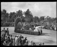 """Iceland"" float in the Tournament of Roses Parade, Pasadena, 1932"