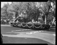 """A Castle in Spain"" float in the Tournament of Roses Parade, Pasadena, 1933"