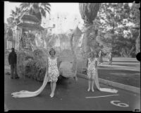 """Peacock"" float in the Tournament of Roses Parade, Pasadena, 1933"