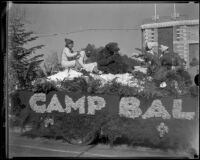 """Camp Baldy"" float in the Tournament of Roses Parade, Pasadena, 1933"
