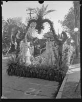 """South Gate"" float in the Tournament of Roses Parade, Pasadena, 1933"