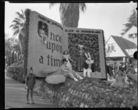 """Alice in Wonderland"" float in the Tournament of Roses Parade, Pasadena, 1933"