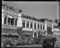 Spectators at the Tournament of Roses Parade, Pasadena, 1935